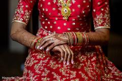 Incredible Indian bridal ceremony bangles.