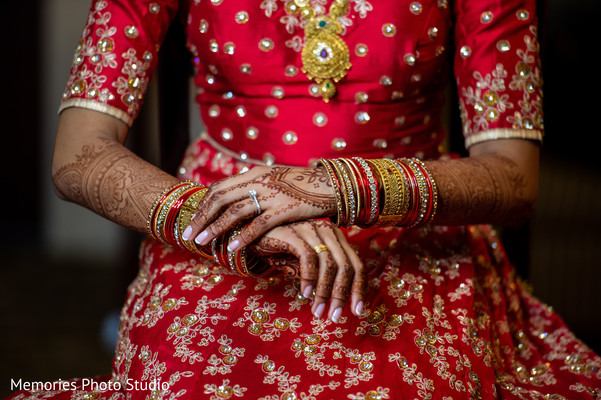 Incredible Indian bridal ceremony bangles.