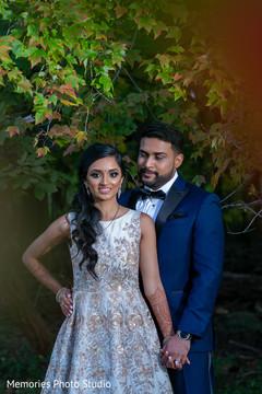 Dreamy indian newlyweds photo shoot.