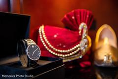 Indian groom's ceremony accessories.