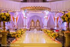 Marvelous Indian wedding ceremony mandap decor.