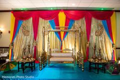 Brilliant indian wedding sangeet decor idea.