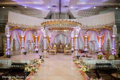 Stunning Indian wedding ceremony mandap.