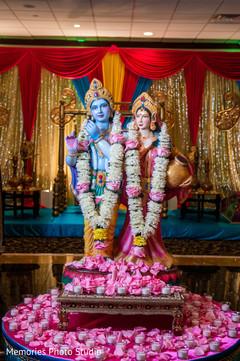Lovely Indian wedding Gods decoration.
