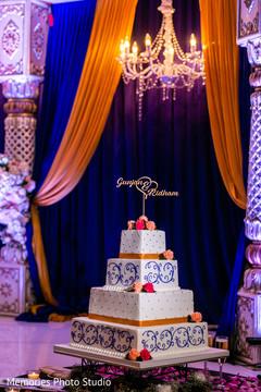 Stunning Indian wedding cake decor.