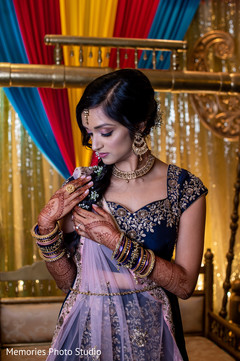 See this Enchanting Indian bride at her sangeet party.
