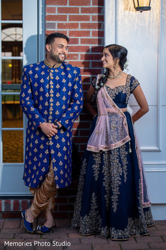 Sweet shot of Indian couple on their pre-wedding fashion.