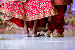 Lovely capture of Indian bride and groom's ceremony shoes.