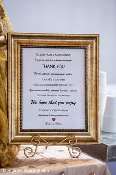 Indian wedding thank you sing.