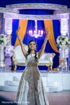 Marvelous Maharani's reception dance.