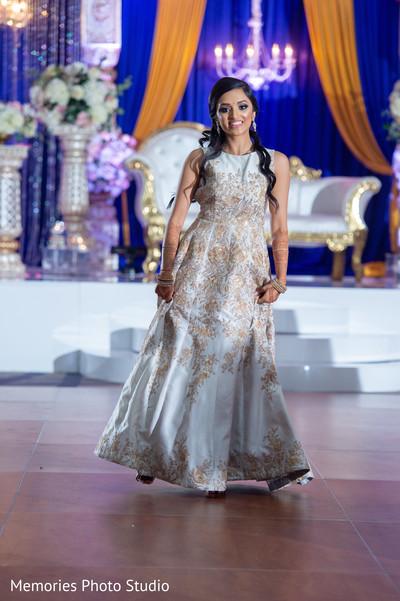Lovely Indian bride reception dance capture.