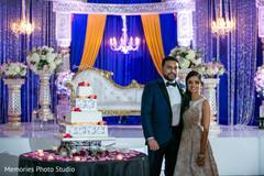 Incredible Indian wedding cake capture.