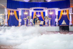 See this lovely Indian wedding reception lovebirds dance.
