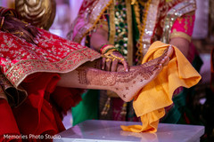 See this ceremony ritual for Indian bride.