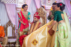 Indian groom uncovered by antarpat.