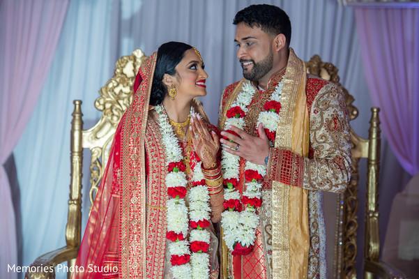 Sweet Indian couple's wedding capture.