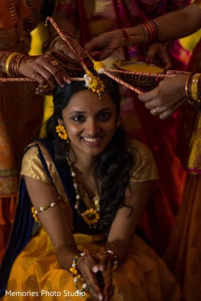 Maharani getting ready for her haldi rituals.