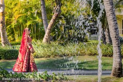 Dreamy Indian bride's out doors capture.