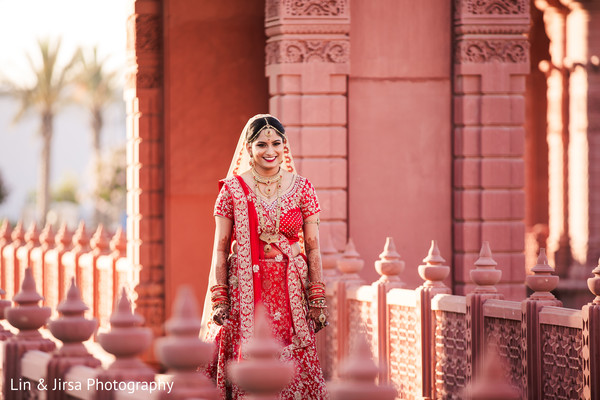 Indian bride on her way to meet groom.