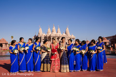 Ravishing Indian bride and bridesmaid photo session.