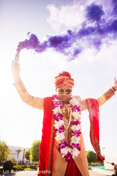 Rajah at his baraat celebration capture.