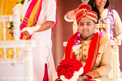 See this charming Indian groom waiting for his bride.