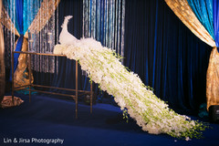 See this incredible Indian wedding reception flowers decoration.