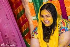 Maharani during the haldi ceremony
