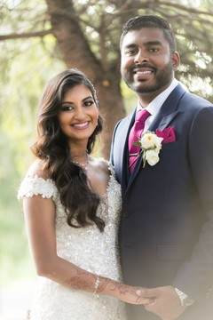 Lovely Indian couple portrait.