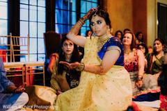 Maharani at her haldi ritual capture.