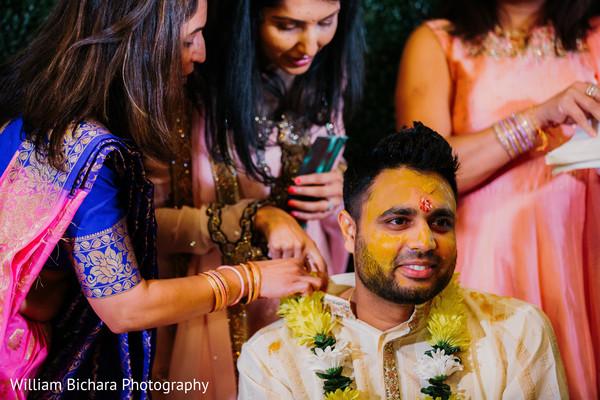Rajah at his haldi party.