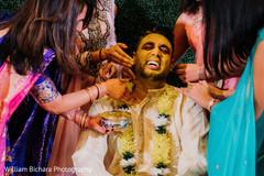 Maharajah at his haldi ritual capture.