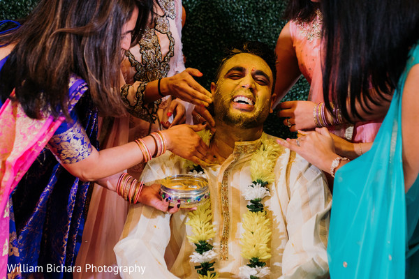 Maharajah at his haldi ritual capture.