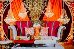 Marvelous Sangeet stage decoration.