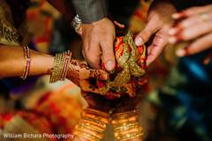 Closeup capture of Indian pre-wedding celebration.