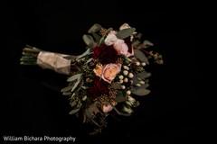 Elegant Indian bridal bouquet.