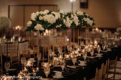 Marvelous Indian wedding table flowers decoration.
