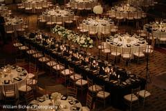 Elegant Indian wedding table setup.