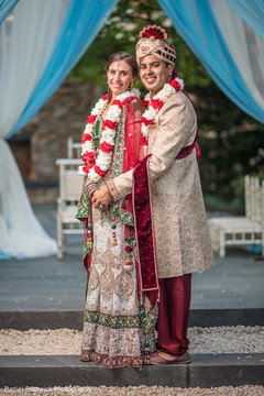 Amazing shot of Indian couple after the ceremony