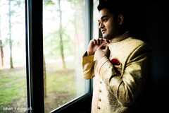 Charming Indian groom getting ready capture.