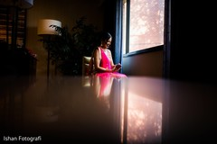 Dreamy capture of Indian bride getting ready.
