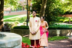 See this lovely Indian couple first look moment.