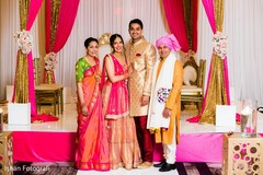 Indian couple with parents photography