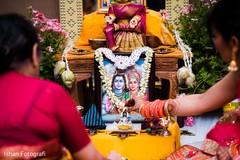 Closeup capture of Indian gods photo.