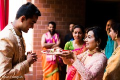 See this Indian groom at his pre-wedding rituals.