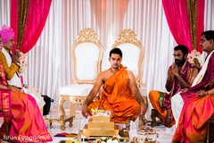 Indian groom at his wedding ceremony capture.