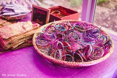 Colorful Indian pre-wedding favors bangles.