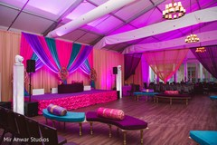 Incredible sangeet dance floor setup.