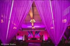 Marvelous Indian sangeet draping decorations.