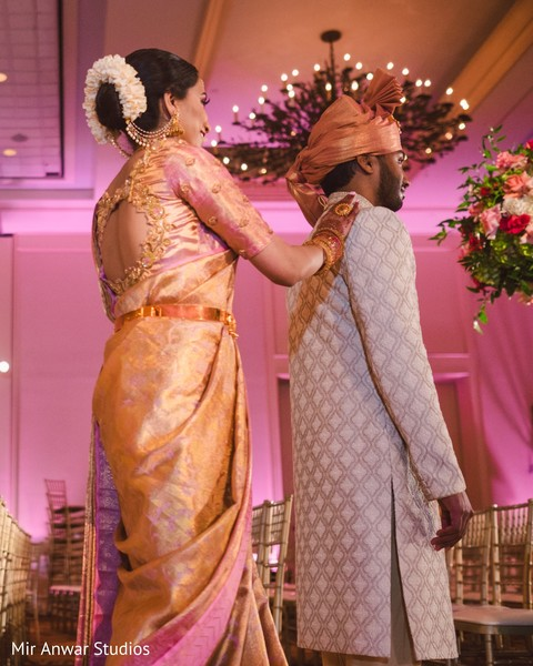 Maharani surprising the groom.